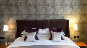 Egyptian cotton sheets, premium bedding, desk, blackout curtains
