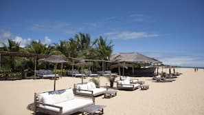 Beach nearby, free beach shuttle, free beach cabanas, sun loungers