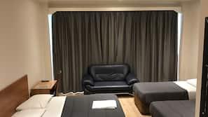 Luxe beddengoed, een bureau, geluiddichte muren, extra bedden (toeslag)