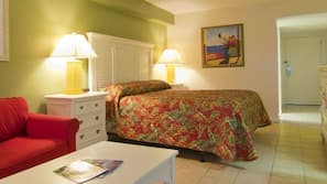 Minibar, desk, iron/ironing board, cribs/infant beds