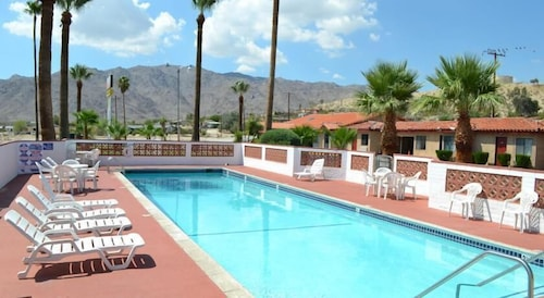 Outdoor Pool, El Rancho Dolores Motel at Joshua Tree National Park