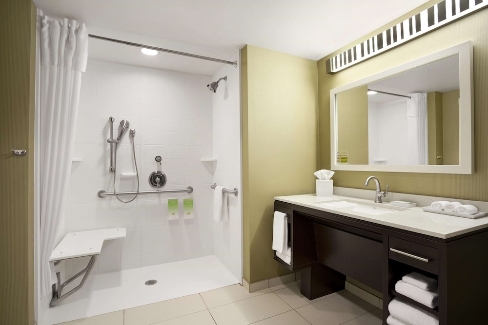 Bathroom, Home2 Suites by Hilton Greensboro Airport, NC