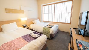 Down duvets, in-room safe, blackout curtains, free WiFi