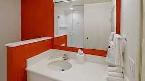 Designer toiletries, hair dryer