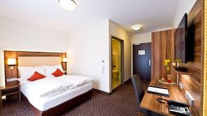 1 Schlafzimmer, hochwertige Bettwaren, Pillowtop-Betten, Zimmersafe