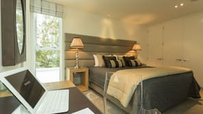 Egyptian cotton sheets, down duvets, pillow-top beds, in-room safe