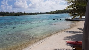 Private beach, white sand, snorkelling, kayaking