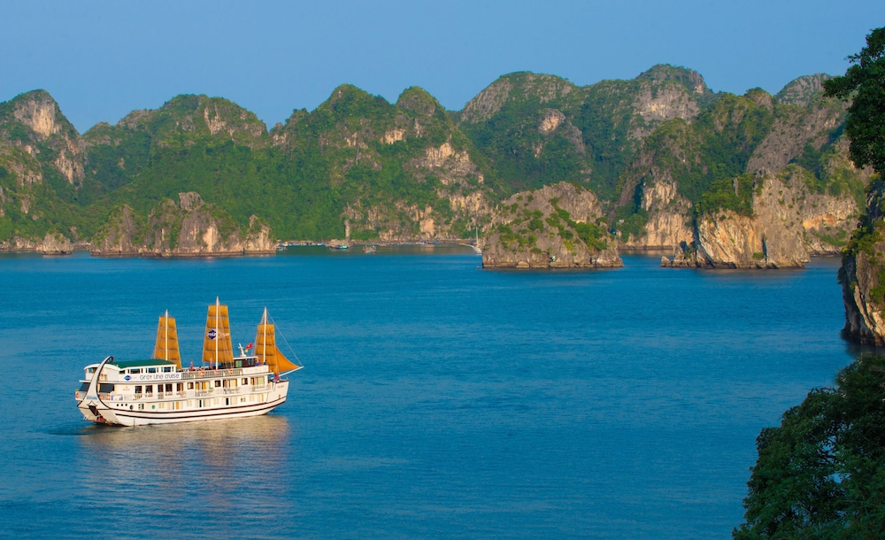 Aerial View, Gray Line Halong Cruise