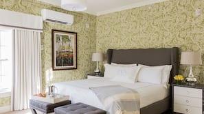 Premium bedding, down comforters, free minibar, individually decorated