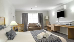 Laptop workspace, cots/infant beds, free WiFi, bed sheets