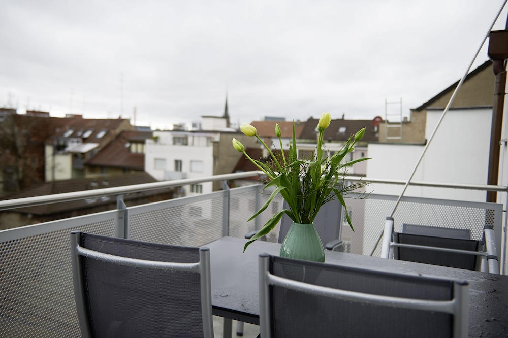 Balcony View, Residence Apartments by Hotel du Commerce