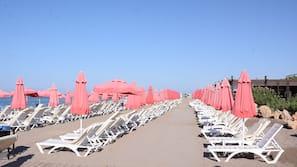 Privatstrand, Volleyball, Strandbar