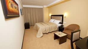 Frette Italian sheets, premium bedding, memory foam beds, minibar