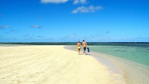 Private beach nearby, scuba diving, snorkelling, waterskiing