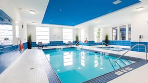 Indoor pool, open 5:30 AM to 10:00 PM, sun loungers