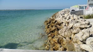 On the beach, beach towels, fishing