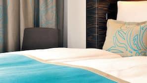 埃及棉床单、防过敏的被褥、办公桌、隔音