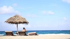 Beach nearby, sun loungers, beach massages, snorkeling