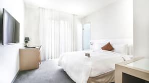 Free minibar, in-room safe, desk, blackout curtains