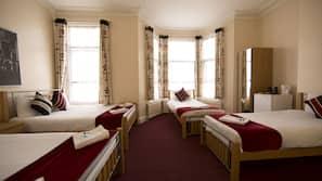 Frette Italian sheets, premium bedding, desk, blackout drapes