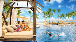 2 piscinas al aire libre, cabañas de piscina (de pago), sombrillas