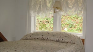 2 bedrooms, down comforters, pillowtop beds, individually decorated