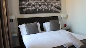 Down duvets, in-room safe, blackout curtains, free cots/infant beds