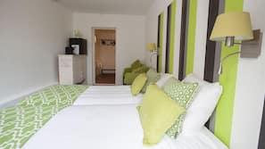 Bettwäsche aus ägyptischer Baumwolle, Pillowtop-Betten, Zimmersafe