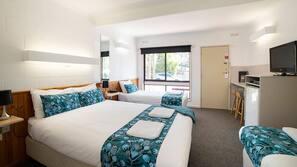 Egyptian cotton sheets, Select Comfort beds, minibar