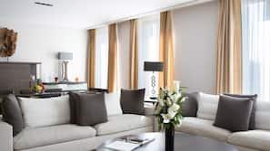 Free minibar items, in-room safe, desk, blackout drapes