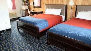 Blackout drapes, rollaway beds, free WiFi