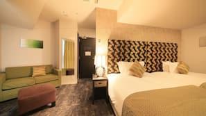 高級寢具、免費 Wi-Fi、床單