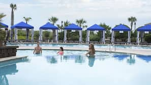 Indoor pool, 5 outdoor pools, cabanas (surcharge), sun loungers