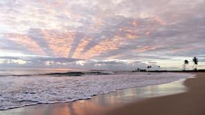 On the beach, white sand, beach bar