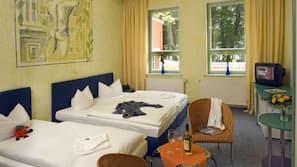 Pillowtop-Betten, Zimmersafe, Schreibtisch, kostenlose Babybetten