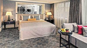Hypo-allergenic bedding, minibar, in-room safe, soundproofing