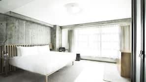埃及棉床單、高級寢具、迷你吧、保險箱