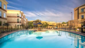 Outdoor pool, open 8 AM to 10 PM, free cabanas