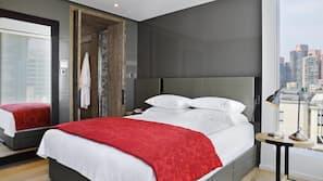 Frette Italian sheets, premium bedding, down comforters, free minibar