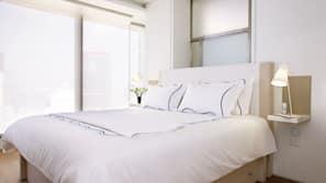 Frette Italian sheets, premium bedding, down duvets, in-room safe