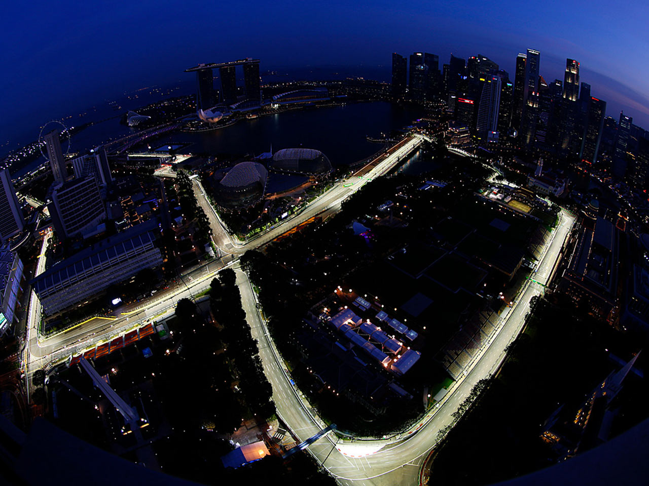 Singapore F1 aerial view