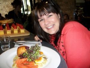 lastminute lovely Courtney enjoying brekkie at Pearl Café