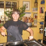"""Lastminute lovely Courtney, """"cooking"""" in Maggie Beer's kitchen"""