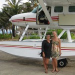The lastminute lovelies always travel in style - by sea plane!