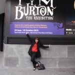 lastminute lovely Courtney outside the Tim Burton exhibition at ACMI