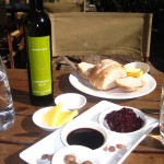 There are plenty of cheeses, dips, olive oils, jams, olives and bread along the way.