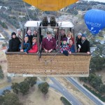 Group shot aboard the hot air balloon