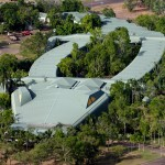 Gagudju Crocodile Holiday Inn looks like a crocodile!