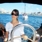 Daniella takes the wheel