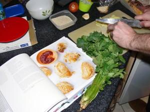 Preparing curry puffs